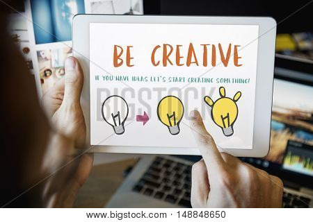 Be Creative Design Inspiration Invention Concept