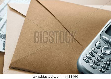 Envelope, Mobile Phone, Dollars