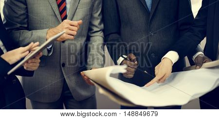 Corporate Coworker Teamwork Meeting Suit Concept
