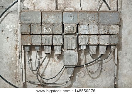 Industrial switch board for electric supply