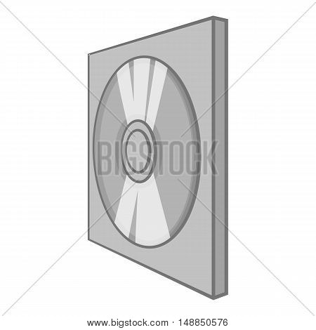 Games disk icon in black monochrome style isolated on white background. Play symbol vector illustration