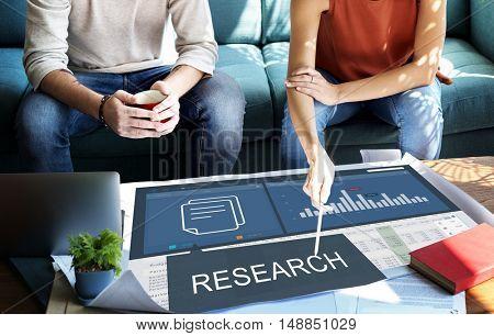 Analytics Marketing Research Business Data Progress Concept