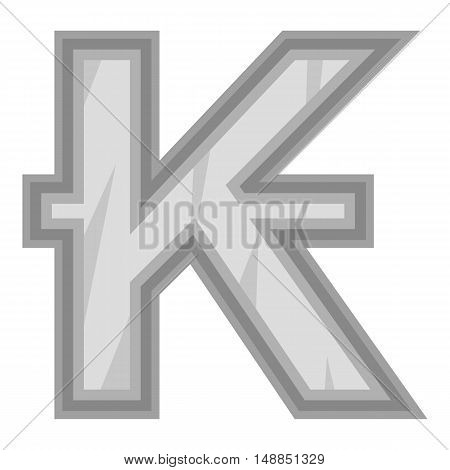 Sign of money lao kip icon in black monochrome style isolated on white background. Currency symbol vector illustration