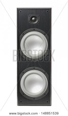 Hi-fi speaker isolated on white background