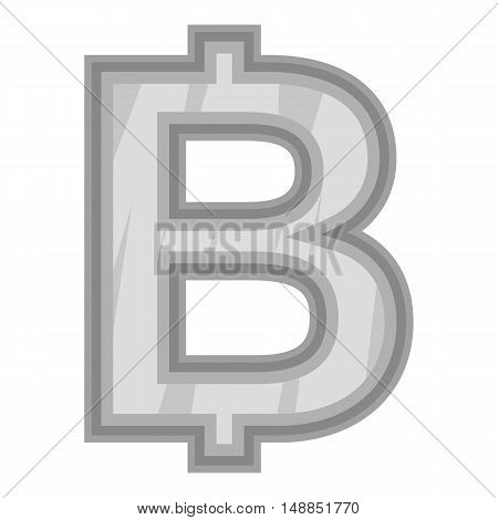 Sign of money bat icon in black monochrome style isolated on white background. Currency symbol vector illustration
