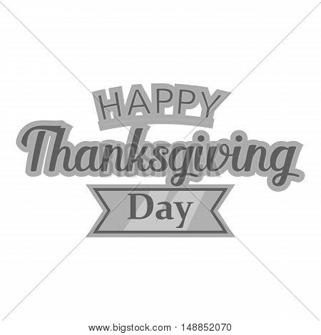 Happy thanksgiving day icon in black monochrome style isolated on white background. Holiday symbol vector illustration