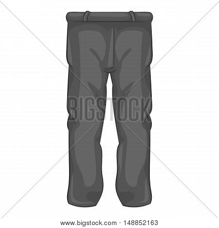Mens sport pants icon in black monochrome style isolated on white background. Clothing symbol vector illustration