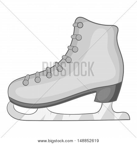 Skates icon in black monochrome style isolated on white background. Winter sport symbol vector illustration