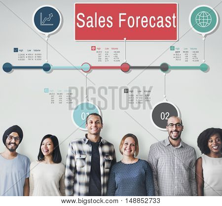 Sales Forecast Strategy Planning Vision Marketing Concept