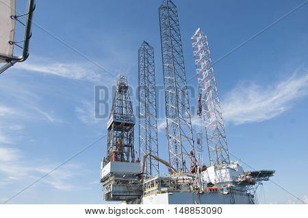 LABUAN, MAY 2016 : Oil & Gas Rig Industries Labuan Island.