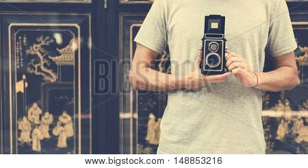 Travel Trip  Vacation Camera Photo Memory Couple Concept