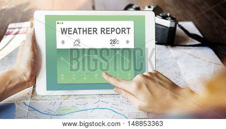 Weather Report Data Meteorology Concept