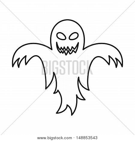 Ghost icon in outline style isolated on white background. Entertainment symbol vector illustration