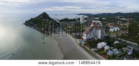 aerial view of khao takeib hua hin prachaupkirikhan southern of thailand important traveling destination