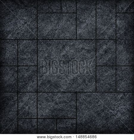 modern black slab slat stone wall background / black stone