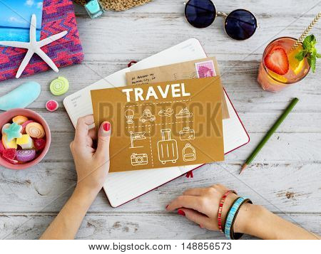 Travel Navigation Journey Vacation Trip Paper Concept