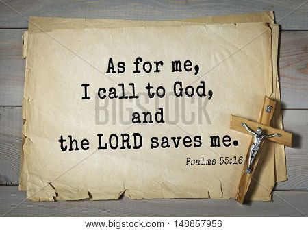 TOP-1000.  Bible verses from Psalms.As for me, I call to God, and the LORD saves me.
