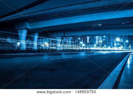 city viaduct streetscape,guangzhou,china.