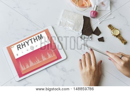 Music Dressing Up Rhythm Power Concept