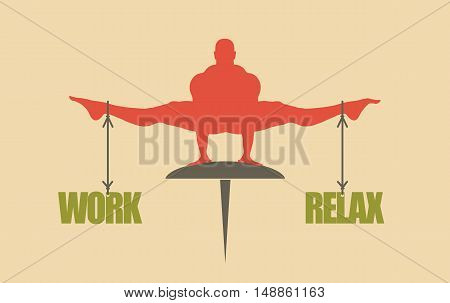 Balance between work and relax. Concept image