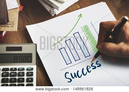 Goals Growth Success Target Concept