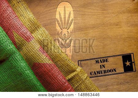 Creative on the topic Made in Cameroon with the state flag.