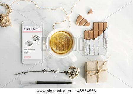 Online Shopping Digital Consumerism Feminism Concept