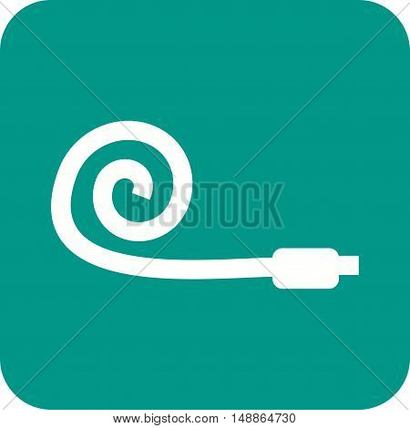 Party, whistle, blower icon vector image. Can also be used for birthday. Suitable for web apps, mobile apps and print media.