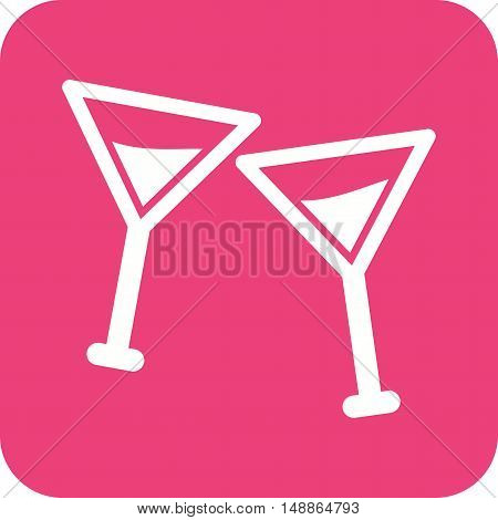 Cocktail, glass, drink icon vector image. Can also be used for birthday. Suitable for use on web apps, mobile apps and print media.