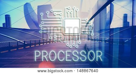 Technology Circuit Processor Innovation Network Concept