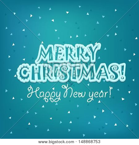 Christmas greeting card vector illustration. Merry Christmas and Happy New year