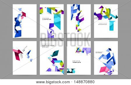 Abstract geometric background with Triangles for Business Presentations and Covers. Trendy Abstract Geometric Elements. EPS10 vector illustration