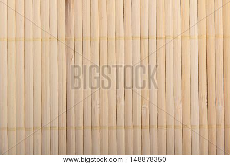 Woven cloth made of cane and bamboo