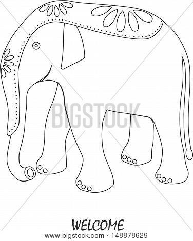 elephant. flat. logo symbol, icon, emblem. vector illustration.