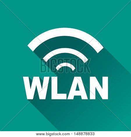 Illustration of wlan design icon with shadow