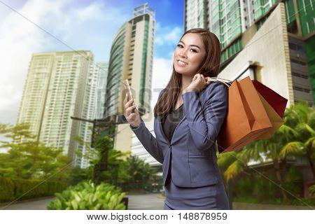 Shopper Asian Woman Hand Shopping