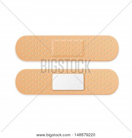 Aid Band Plaster Strips Set. Vector illustration