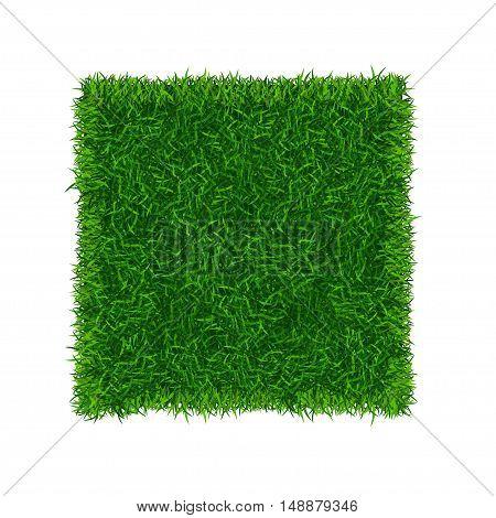 Green Grass Field Banner Football Place. Vector illustration