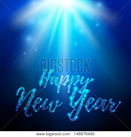 Vector illustration of  holiday background. Happy new Year
