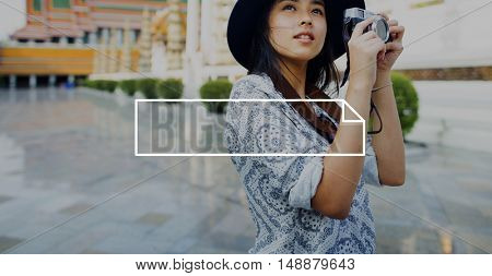 Female Travel Photography Outdoor Banner Graphic Concept