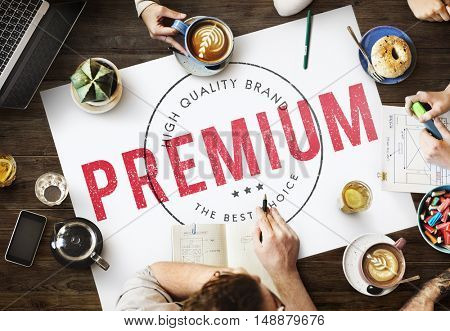 Premium Coffee Business Quality Concept