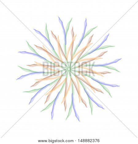 mandala. watercolor. circular abstract pattern. vector illustration.