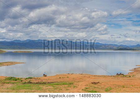 Landscape at Kaeng Krachan Dam in Kaeng Krachan National Park Thailand