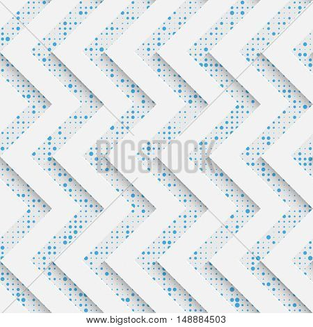 Seamless Zig Zag Pattern. White and Blue Wrapping Background. Abstract Modern Graphic Design