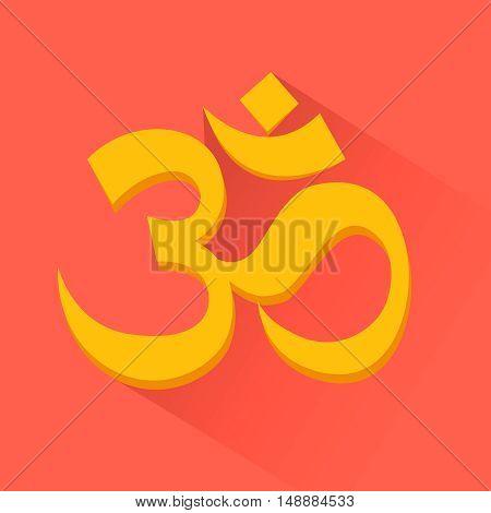 Om sign. Induism symbol, Vector illustration, EPS10