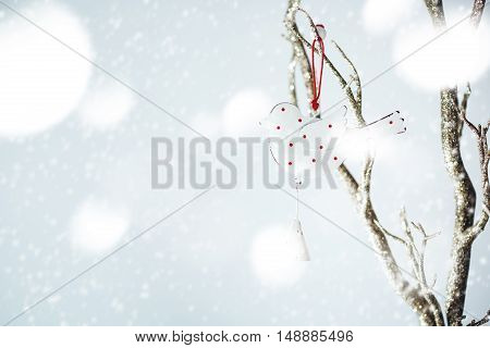 Christmas Decoration With Vintage Bird
