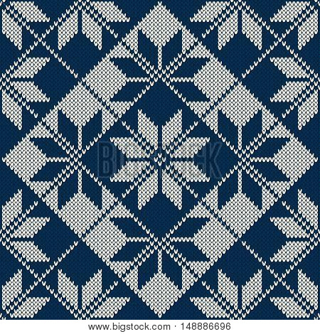 Christmas Sweater Design. Vector Seamless Knitting Pattern