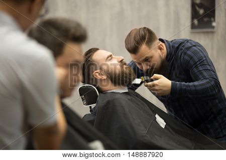 Beard Grooming In Hairsalon For Men