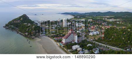 Aerial View Of Khao Takeib Hua Hin Prachaupkirikhan Southern Of Thailand Important Traveling Destina