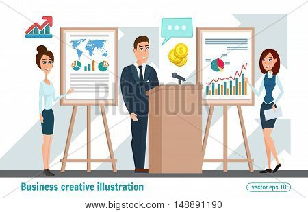 Business Professional Work Team. Business Meeting Concept With People Chatting In Conference Room. V